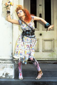 Cyndi Lauper Press Shoot, London 15/06/1983.  Photo by Terry Lott.