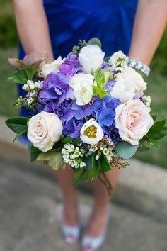 blue and white bridal bouquet, blue hydrangeas, southern bridal bouquet