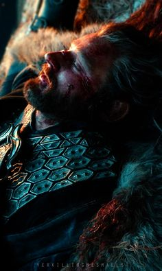 Will people online stop flipping photos of Thorin with his eyes closed vertically so it looks like a casket shot? Sheesh, I'm trying to make my poor heart last through December! #majestic #no #nope