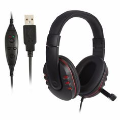 MeterMall Smart for USB Wired Gaming Headphone LED RGB Lighting Over-Ear Gamer Headset with Microphone for PC Laptop Xbox One PS4 Not Glowing Black Gray