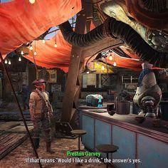 "Fallout RPG  -  ""Nani ni shimasuka?"" that protection serves ramen in Diamond city #Fallout #gaming"