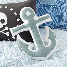 Kids' Throw Pillows: Kids Skull & Crossbones Throw Pillow in Throw Pillows $16