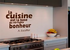 1000 images about phrases cuisine on pinterest cuisine for Stickers pour carrelage mural cuisine