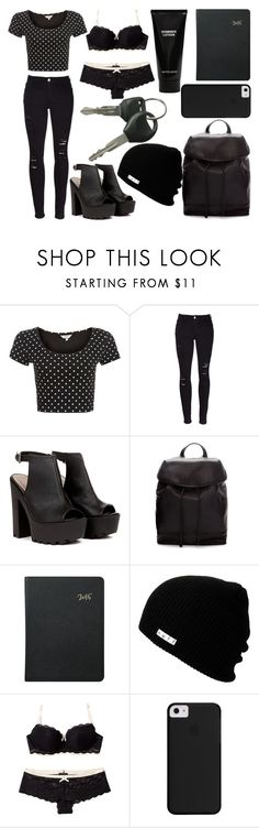 """Sans titre #6550"" by crazymoustik ❤ liked on Polyvore featuring Frame, Zara, Graphic Image, Neff, Elle Macpherson Intimates and Witchery"