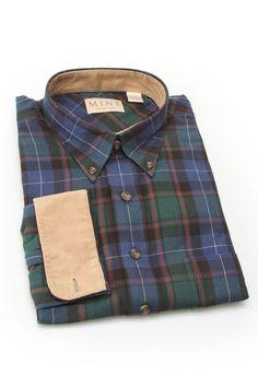 Tartan Shirt With Corduroy Trim / by Enro & Mine