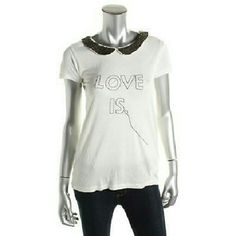 Zara shirt Zara trafaluc shirt. The shirt is ivory with a back sequined collar, so adorable. Brand new. Zara Tops Blouses