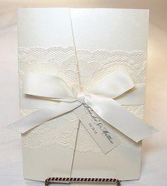 Amy Lace Wedding Invitation