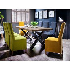 Gavi Acacia Grey Large Dining Table And 8 Casper Dining Chairs - Wooden Dining Tables And 8 Chairs, Furnitureinfashion UK