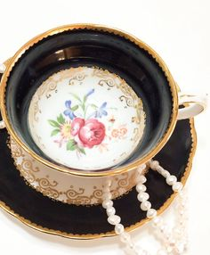 Antique Grosvenor English Tea Cup Bone by GracesVintageGarden