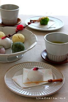Japanese sweets & Japanese Tea