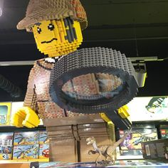 Lego Sherlock is on the case of the dino of the Baskerville! #Sherlock #sleuth #lego #booknerd #baskerville #hamleys #london #piccadillycircus #dinosaur #toyphotography #legobricks #brick #raptor #wanderlust #travel #visitlondon #england #toystore #bigkid #selfie #nofilter