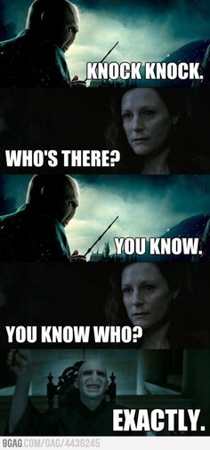 Voldy's got jokes