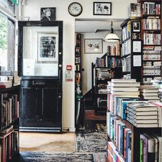 It's a bookstore but imagine this being the back entry of your home! Like it just opens up from a garden into this!