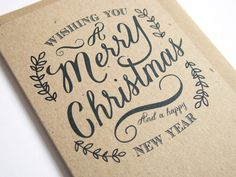 Rustic Christmas Eco Recycled Kraft Christmas by STNstationery, £1.50