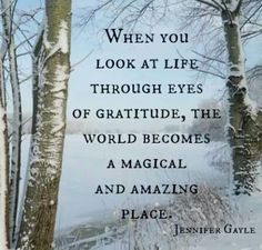 Through eyes of gratitude