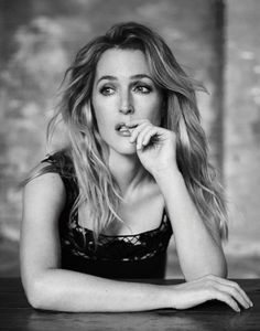 Gillian Anderson, photographed by Matt Holyoak for INTERVIEW, Dec 2015.