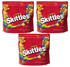 Skittles Original Candy Bag 2 pounds 9 oz Set of 3 -- More info could be found at the image url. #Desserts