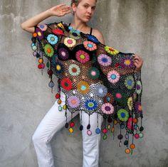 ideas for crochet shawl butterfly etsy Crochet Scarves, Crochet Shawl, Crochet Clothes, Crochet Lace, Crochet Stitches, Crochet Patterns, Cotton Crochet, Diy Crafts Butterfly, Blouse En Coton