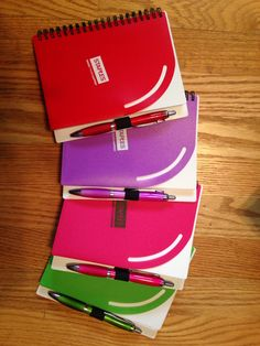 Colorful notebooks from Sweda