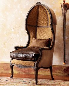 I feel like just sitting in this amazing chair would make me more intelligent :) It looks like a chair to sit in for hours of conversation.