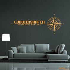 "Wandtattoo ""Stadt Ludwigshafen"" - ab 19,95 € | Xaydo Folientechnik"