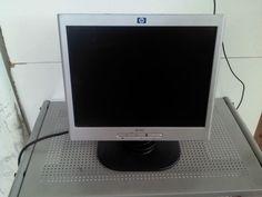 Monitor 15  HP 1502 LCD Computer PC Nero e Argento flat screen