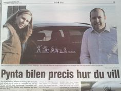 Funky Family creaters Adam & Karin Whittington hit the media in Sweden. Fastly becoming the most favourite family car stickers on the market. After just 1 year in business Funky Family Stickers are selling in 5 countries and growng.