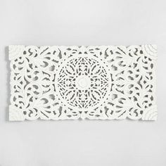 One of my favorite discoveries at WorldMarket.com: Ivory Wood Floral Wall Panel