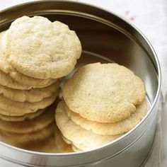 Cornmeal-Fennel Cookies | MyRecipes.com.  Cornmeal gives these tender cookies a pleasing texture and slightly nutty taste.