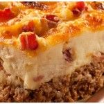 Cowboy Meatloaf and Potato Casserole |