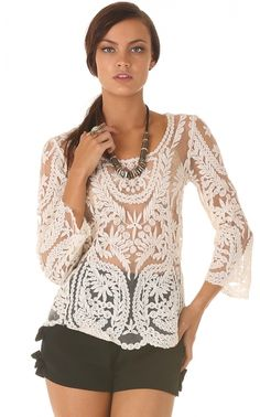 Tops > LUCKY IN LACE TOP