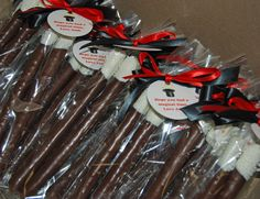 Chocolate Dipped Pretzel Magic Wands Party Favors | by Sweet Shoppe Mom and Simply Sweets