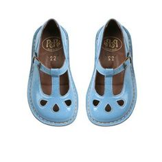 "baby blue shoes - reminds me of little orphan Annie's shoes in the ""let's go to the movies"" scene!"
