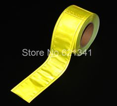 Reflective lattice belt PVC reflective strip clothing accessories safety reflective tape yellow 5cm*10m Fallout Costume, Clothing Accessories, Craft Supplies, Tape, Safety, Belt, Yellow, Clothes, Security Guard