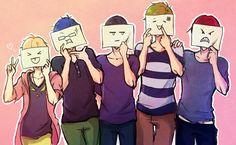 p-p-preciouss.. T^T Anime Group Of Friends, Free Cosplay, Group Cosplay, Makoto Tachibana, Makoharu, Anime Guys, All Anime, Anime Art, Otaku