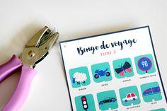 DIY : Un bingo pour occuper les enfants en voyage - Papa, Maman, evian free printable : extra !!!