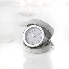 Leather Travel Clock - White  from The White Company