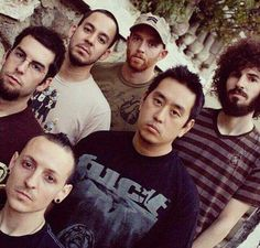 "Linkin Park ♥ "" ""umm..ahem..what did i do?? Why u guys looking like that? Was there something i said? Oh shet, i think they want to beat me up. Ok, lets talk about this like consenting adults."".((backing away))"