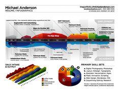 Nog een bijzonder fraai infographic CV