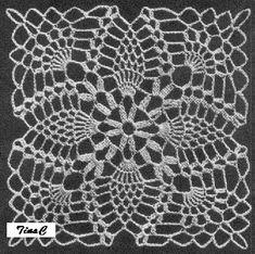 Totally Free Crochet Pattern Blog - Patterns: Pineapple Square 744 Free Thread Crochet Pattern