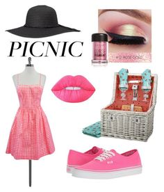 """The Picnic Look"" by poorbucky ❤ liked on Polyvore featuring Lilly Pulitzer, Vans, Picnic Time and Lime Crime"