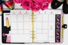 Paper & Glam - The Glam Planner 2016 - Vertical Weekly.