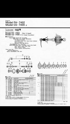 7 Best Dura Ace Vintage Service Instructions Images