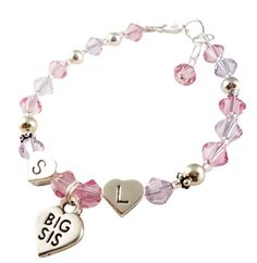 Choose colors initial and size Big Sister by DesignsbyCrissi Christmas Gifts For Girls, Initials, Big, Colors, Bracelets, Jewelry, Girls Christmas Presents, Bangles, Jewlery