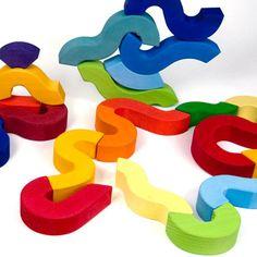 Curved Building Blocks Montecarlo from Grimm's Spiel und Holz Design