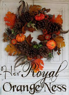 Fall wreath. Ranch Farmgirl blog.