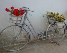 bicicleta antigua de jardin