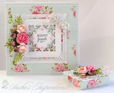 Sasha's Inspirations: Floral Card and Gift Box