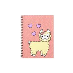 Adorable Kawaii Llama Notebook