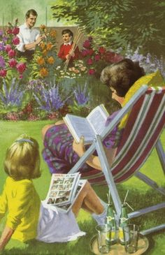 Reading in the garden - Peter And Jane, Let Me Write..